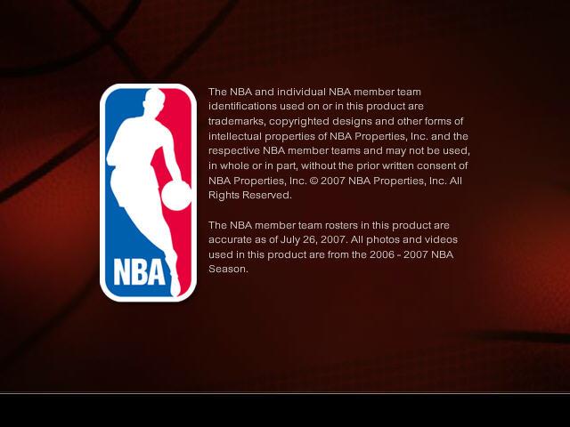 NBA LIVE 2008截图1