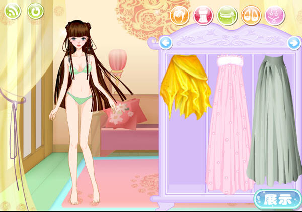 仙剑公主穿衣小游戏