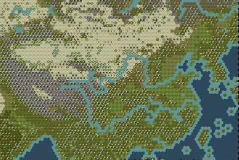 文明5世界地图之真实亚洲图片
