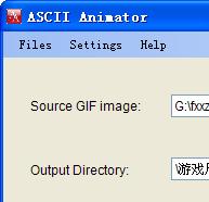 ASCII Animator(字符转换成GIF图像)