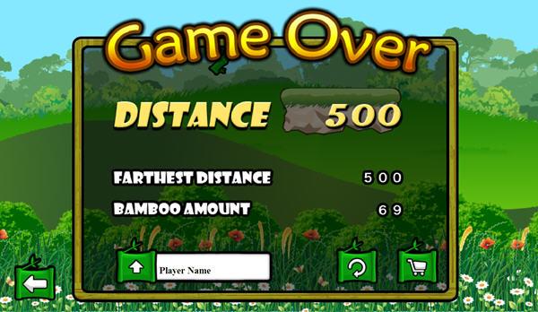酷跑熊猫空中吃竹子_飞翔游戏