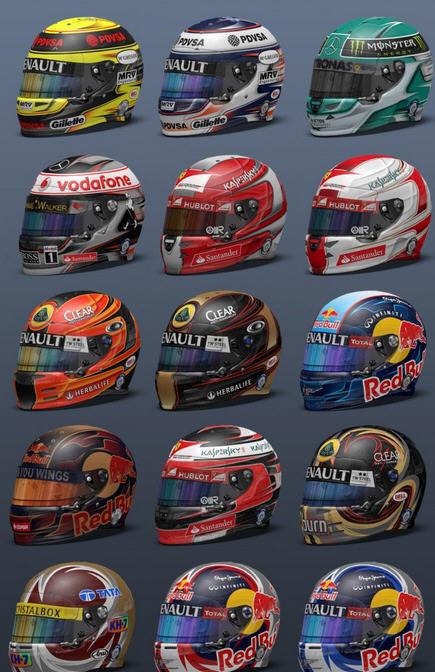 f1 2013赛车手头盔mod