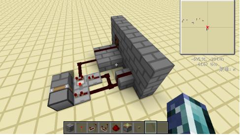 我的世界红石按钮存锁器怎么做