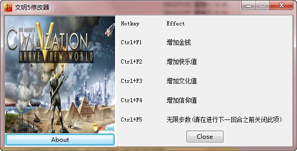 文明5:美丽新世界dx9-dx11五项修改器