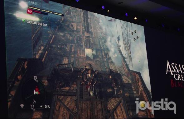 《刺客信条4黑旗》PS4版实机v刺客PSV掌机可笔法图解图片
