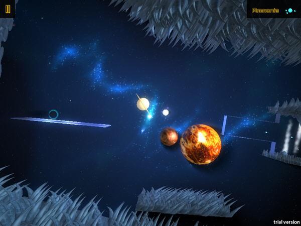 《原生细胞》是一款横版过关的解谜游戏,游戏设定为一个星球在宇宙中收集氢、甲烷、水和氨,以创造地球上的生命。游戏的玩法有点像是水之道 (Puddle),游戏中你旋转宇宙,改变宇宙中重力的方向,用鼠标画出轨道,让星球在危险的宇宙中运动,通过机关与障碍,最后到达指定的位置。