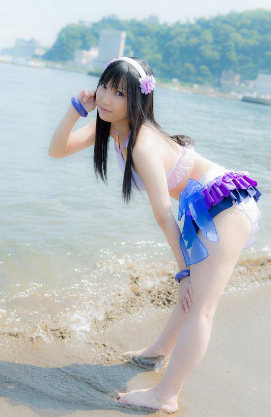 莲妹 最新泳装写真欣赏 继续无下限cosplay