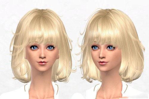 模拟人生4女性可爱蓬蓬短发mod