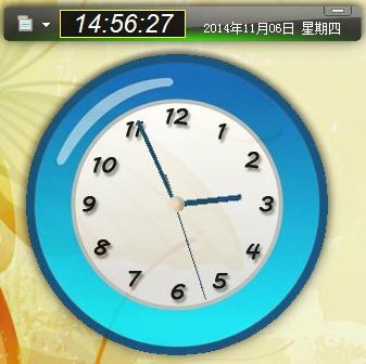 漂亮实用的桌面数字时钟