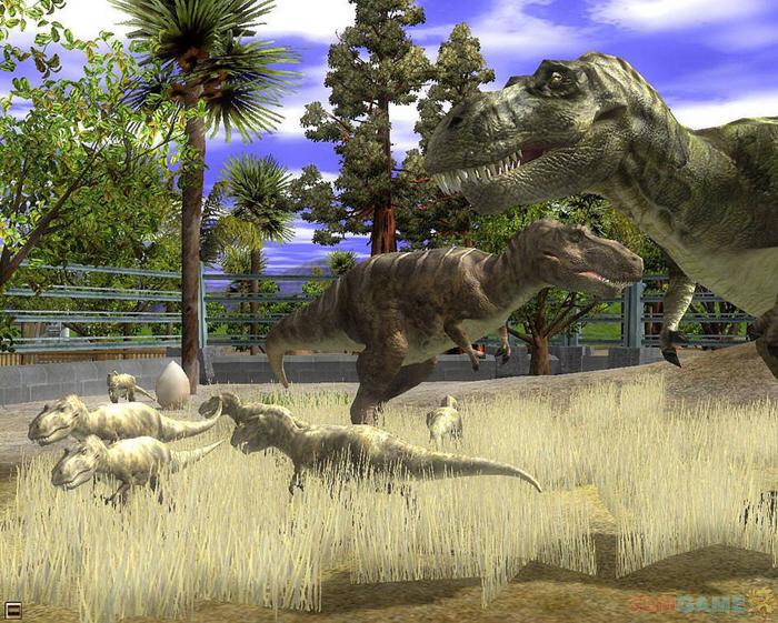 可能,野生动物大家也见得不多,实在没见过,可以利用周末,带着孩子去动物园,你就能看到几头愚蠢的斑马在地上打滚。可是,无论我们去不去野生动物园,都无法亲眼见到一头货真价的恐龙。正因为如此,才让Deep Silver觉得有必要做一部以恐龙为主题的游戏。摒除那些野生动物保护者的偏执和愤怒,Deep Silver坚定地认为,即便是有恐龙重新来到这个世界上,我们也必须把他们圈养起来,营造一个《侏罗纪公园》的美妙乐土。到时候,看热闹的人肯定还会很多,而你只需要伸手向游客要钱就足以组织起一个对抗全世界野生动物保护者的强