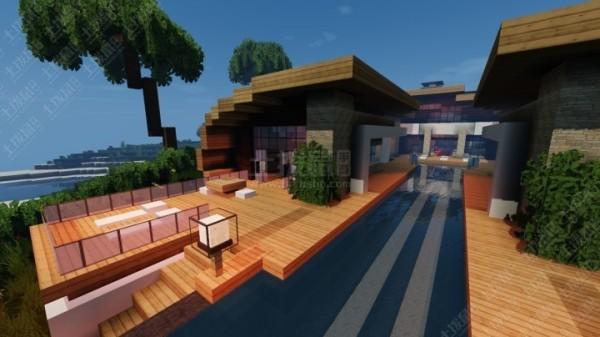我的世界超华丽的现代海滨别墅地图全版本
