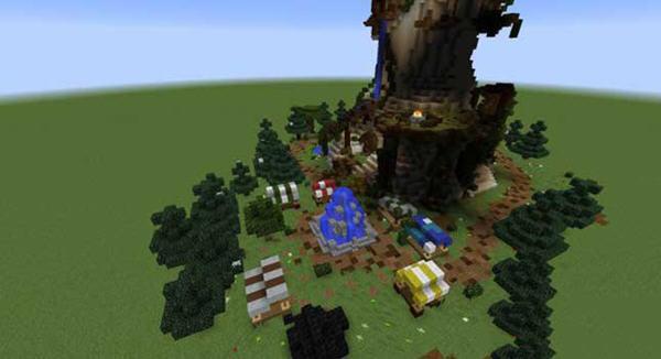 我的世界巨型蘑菇塔地图