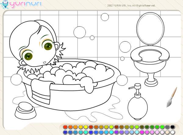 浴室填颜色小游戏下载