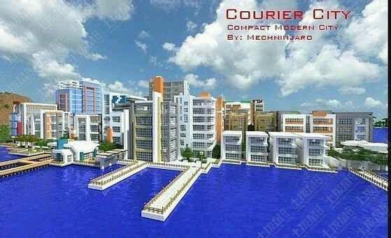 我的世界手机版corier海滨城市地图