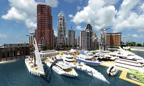 我的世界大型城市飞艇轮船存档