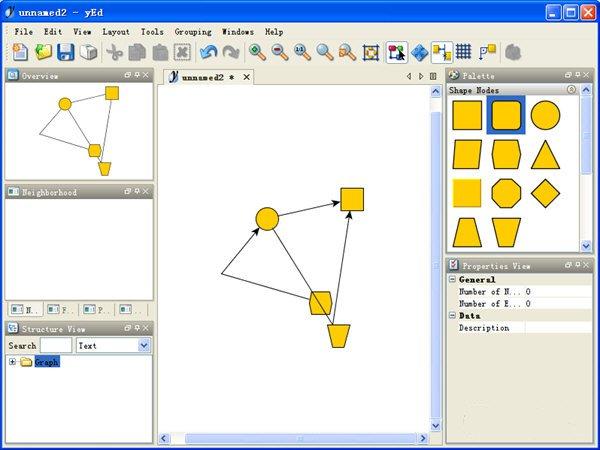 1、选择一个图形,鼠标左键按住不放拖到安排的位置; 2、鼠标滚轮放大或者缩小图片; 3、在图片空白处点击,就出现连接线了,非常简单; 4、不要的图形DELETE删除; 5、按住shift构图,形成图片组; 6、方便修改。