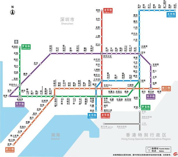 深圳地铁规划线路图