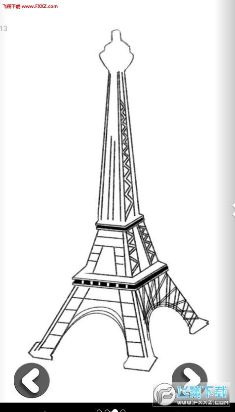 简笔画 建筑 手绘 塔 线稿 476_833 竖版 竖屏