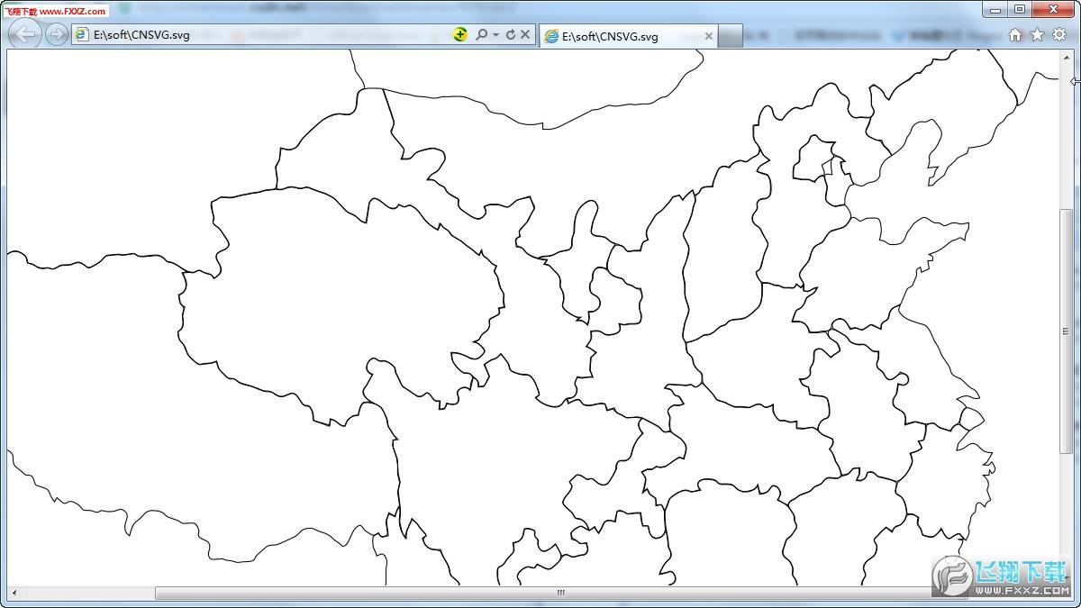 中国省份地图 svg格式