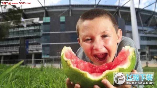 澳大利亚西瓜君图片大全|外国小男孩吃西瓜表情包