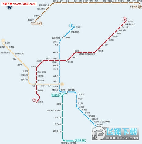 南京二号地铁线路图 南京十号地铁线路图 南京地铁线路图高清 南京地