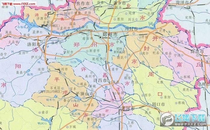 河南地图电子版高清打印版