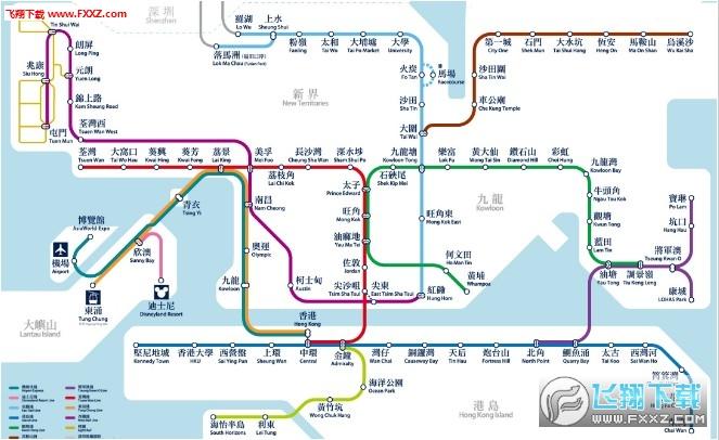2017-2018年香港地铁线路图