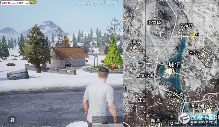 刺激战场雪地地图圣诞树