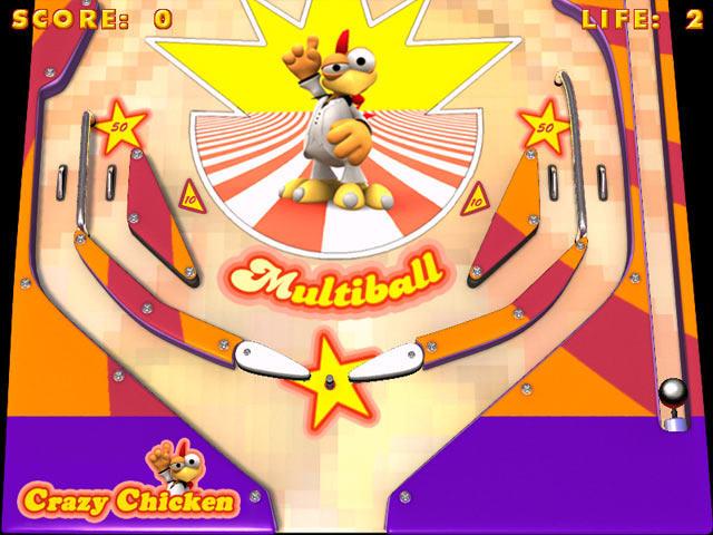 疯狂的鸡:弹珠台截图0