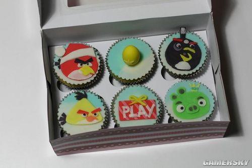《愤怒的小鸟》网友创意DIY 蛋糕