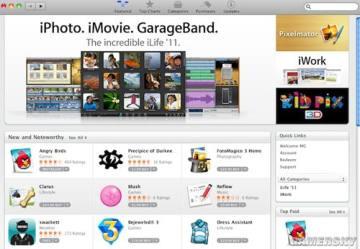 苹果Mac App Store上线,游戏应用数量占上