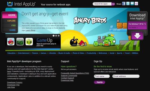 《愤怒的小鸟》登岸英特尔应用商店AppUp