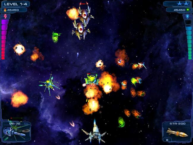 卷轴太空射击游戏截图0