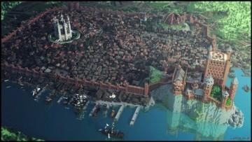 碉堡了!玩家用我的世界重制《权利游戏》国王疆土