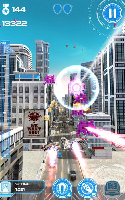 喷气机跑酷:城市保卫者破解版截图2