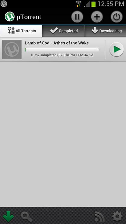手机BT下载器(tTorrent for Android)v2.2.1.2 汉化安卓版截图1