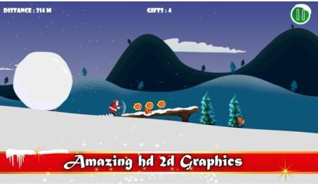 圣诞老人滑雪V1.0截图1