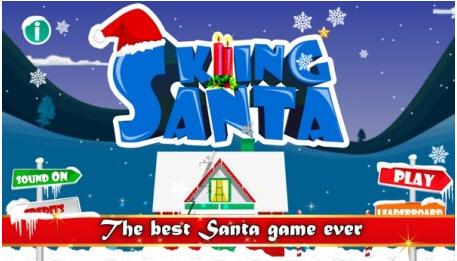 圣诞老人滑雪V1.0截图0