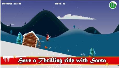 圣诞老人滑雪V1.0截图2