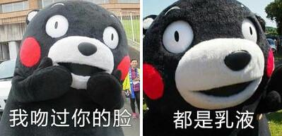 熊本熊我吻过你的脸表情包