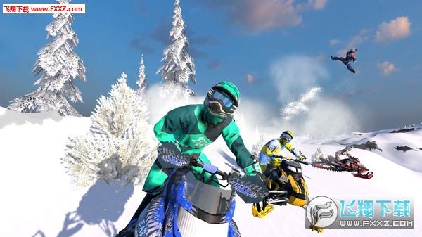 雪地摩托自由竞赛截图2