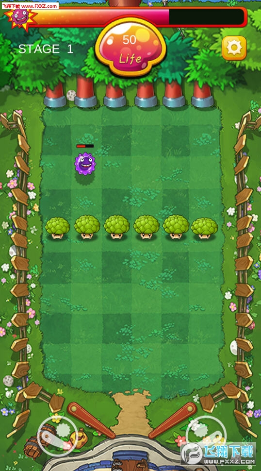 超级蘑菇VS细菌游戏