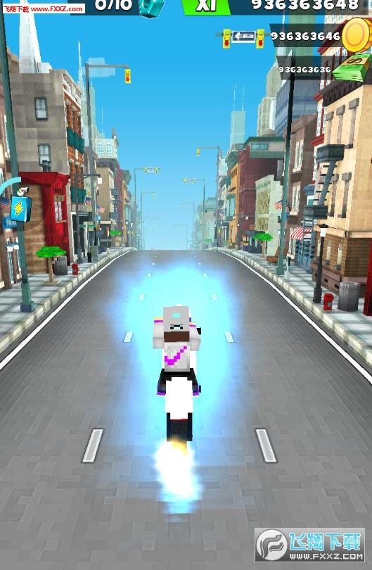 Blocky空闲摩托自行车