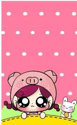 2019可爱猪猪屏幕图片