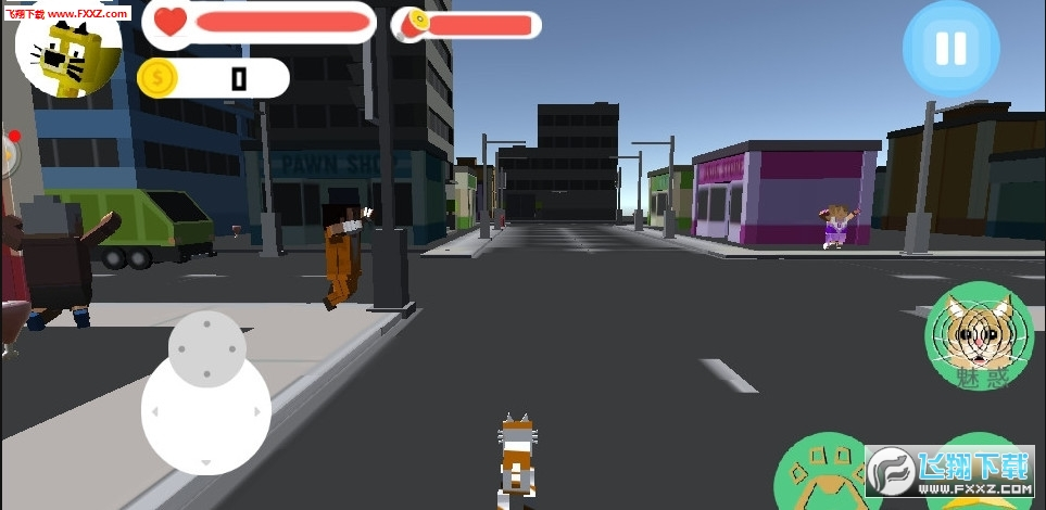 像素猫大战老鼠人官方版1.0截图0