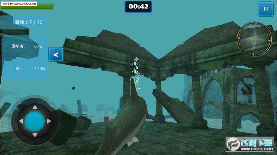 深海鲨鱼模拟游戏
