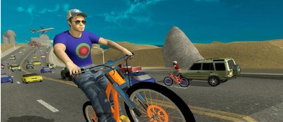 疯狂的自行车骑手安卓版1.0截图1