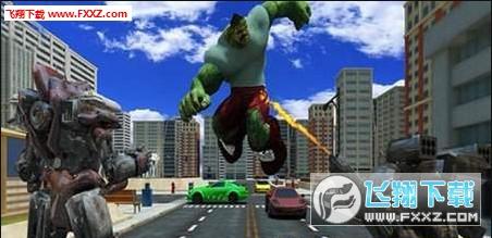 城市英雄战争机器人怪兽大战1.0截图0