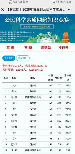 2020青海省公民科学素质网络知识竞赛答案全套1.01最新版截图2