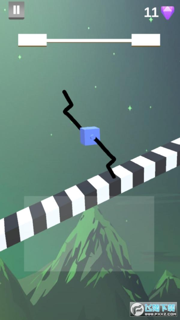 画个方块腿快跑手机游戏v1.0.4无广告版截图2